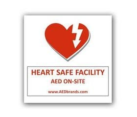 AED Window Static Cling Decal AB 3210
