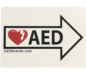 AED Directional Signs AB 3206