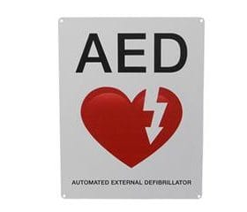 AED Wall Sign - Flat AB 3203