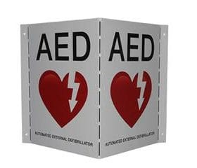 AED Wall Sign - V-Shape AB 3204
