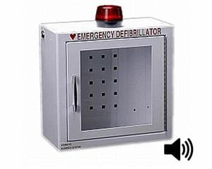 Compact AED Cabinet with Alarm & Strobe