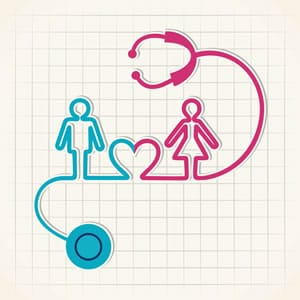 stethoscopes with man and woman