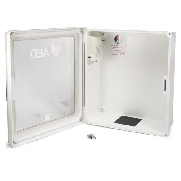 LIFEPAK-CR2-Plastic-Wall-Cabinet-Open