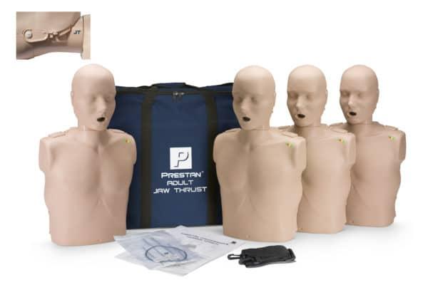 Prestan-Adult-Jaw-Thrust-Manikin-4-Pack-CPR-Monitor-PP-JTM-400M-MS