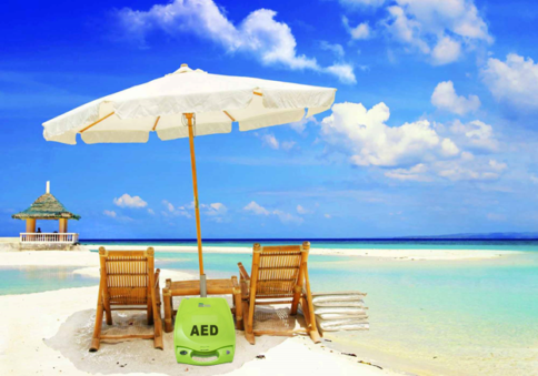 aed on beach
