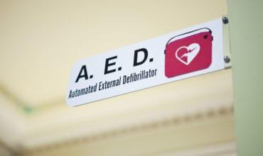 A.E.D. Defibrillator sign
