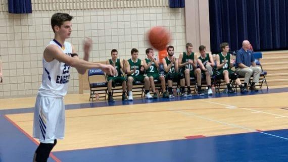 basketball player passing ball
