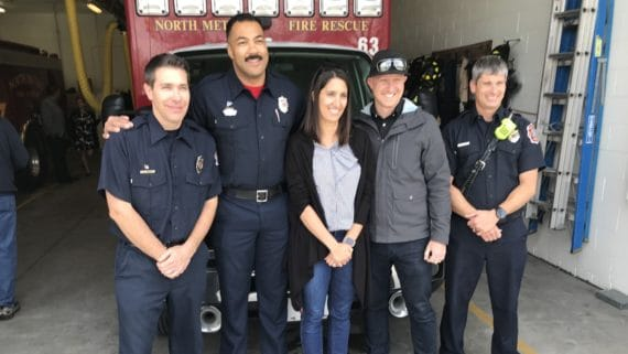 firefighters with couple