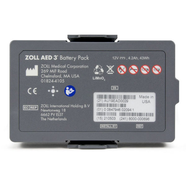 ZOLL-AED-3-Lithium-Battery-8000-000696-front