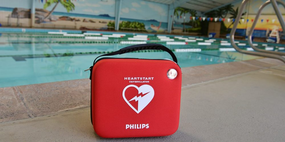 aed by swimming pool