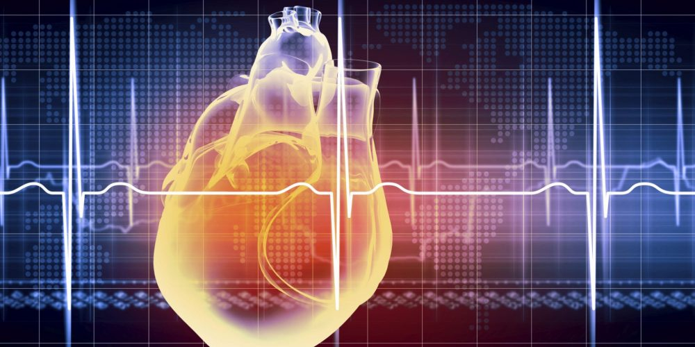heart beating ekg